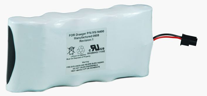 Battery for Drager MS14490