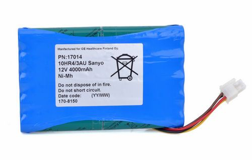 S-5 10HR4/3AU 17014 NI-MH Battery for GE Datex-Ohmeda S/5CAM